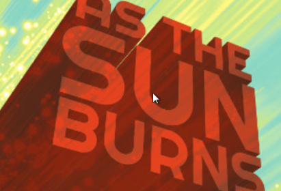New Vintage Theatre As the Suns Burns Logo