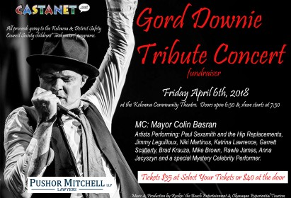 Gord Downie Tribute Fundraiser Concert