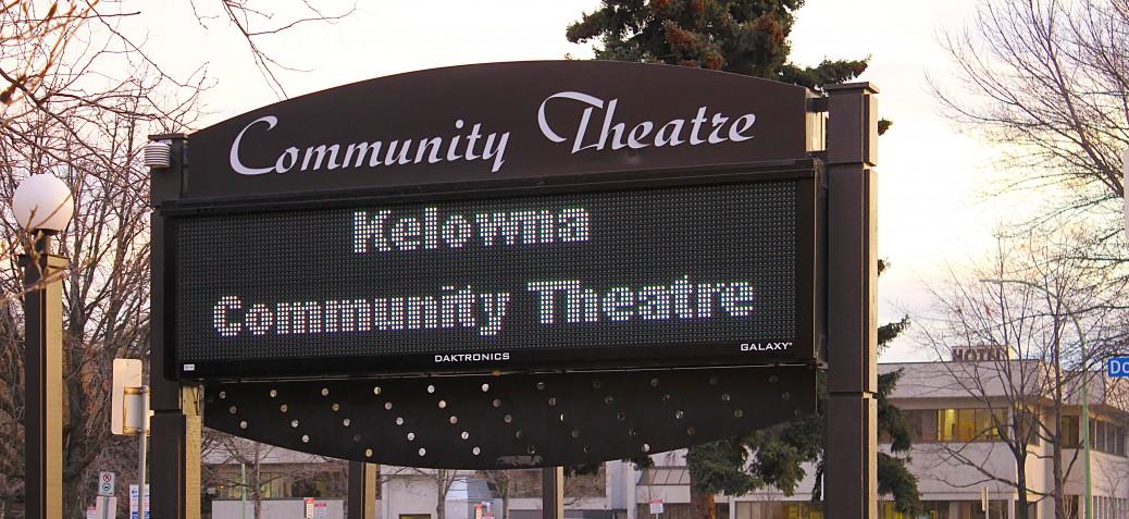Kelowna Community Theatre Sign