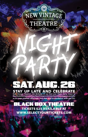New Vintage Night Party Poster