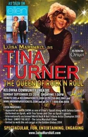 Luisa Marshall as Tina Turner!